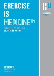 EXERCISE IS MEDICINETM - Tilburg University, The Netherlands