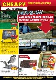 Reklamblad Drive In - Klicka här för att öppna - Cheapy