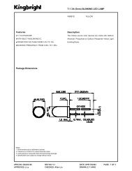Package Dimensions Features T-1 3/4 (5mm ... - EBG - Darmstadt