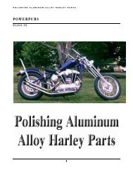 Polishing Harley Aluminum Alloy Parts - Finishing