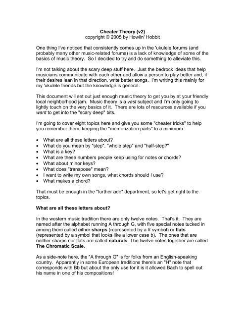 Cheater Theory by Howlin' Hobbit - Dropbox