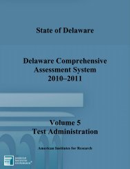 Test Administration - Delaware Department of Education