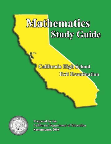 CAHSEE Math Study Guide - California Department of Education ...