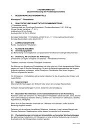 FACHINFORMATION (Zusammenfassung der ... - Sanova