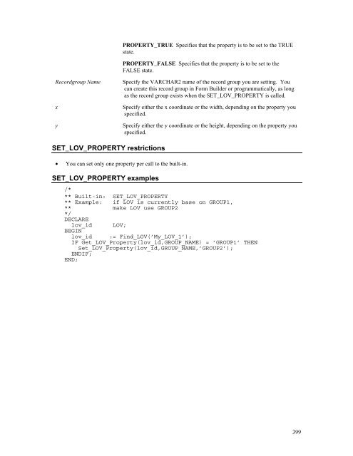 SET_LOV_PROPERTY built-in
