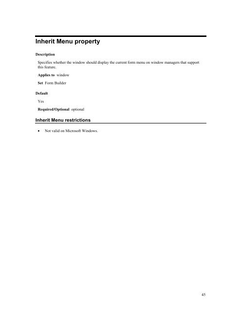 Include REF Item property