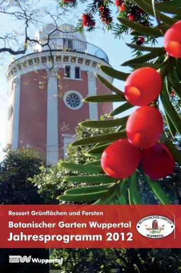 Jahresprogramm 2012 - Stadt Wuppertal