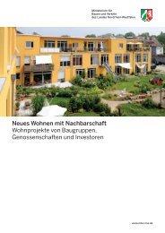 Neues Wohnen mit Nachbarschaft Wohnprojekte ... - MBWSV NRW