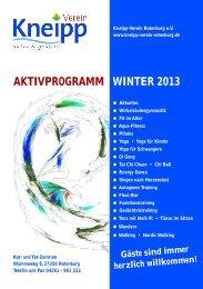 aktivprogramm winter 2013 - Kneipp-Verein Rotenburg / Wümme eV