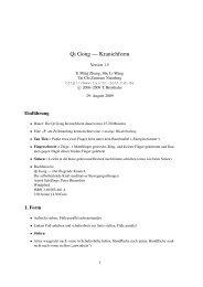 Qi Gong — Kranichform