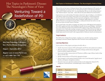 Hot Topics in Parkinson's Disease: The Neurologist's Point ... - ProCE