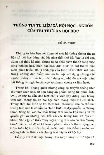 THÔNG TIN Tir LIEU XÀ HÔI HOC