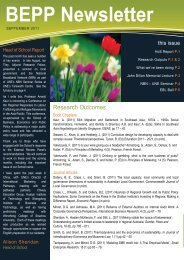 BEPP Newsletter - University of New England