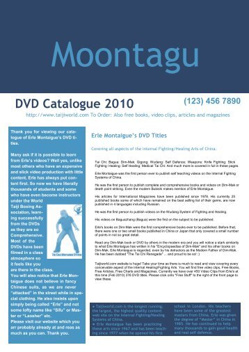 DVD Catalogue 2010 - Tai Chi World