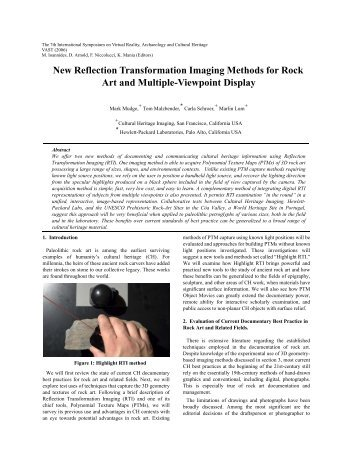 New Reflection Transformation Imaging Methods for Rock Art and ...