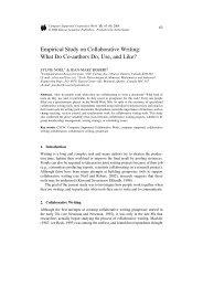 Empirical Study on Collaborative Writing: What Do ... - Web Publishing