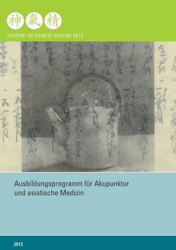 Ausbildungsprogramm für Akupunktur und asiatische Medizin