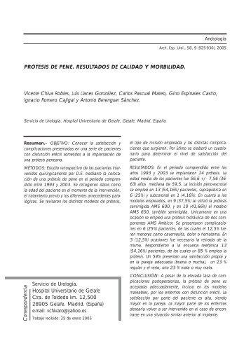 Arch. Esp. Urol., 58, 9 - SciELO España