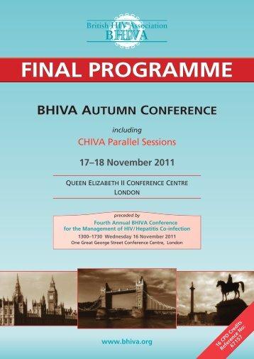 Download Final Programme - BHIVA