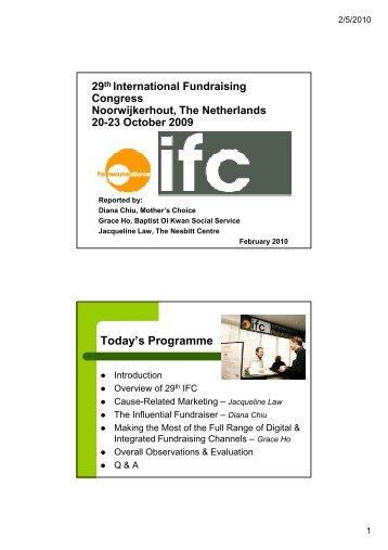 29th IFC Report-Back - Diana Chiu [