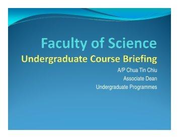 A/P Chua Tin Chiu Associate Dean ... - Faculty of Science