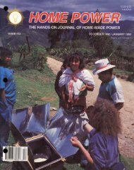 Home Power #32 • December 1992 / January 1993 - Aprotec