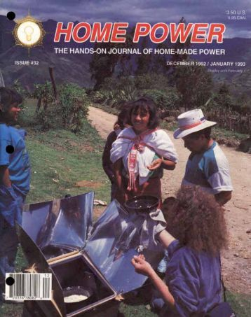 Home Power #32 • December 1992 / January 1993 - Aprotec