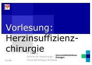 M. Weyand Zentrum für Herzchirurgie Universität Erlangen Nürnberg