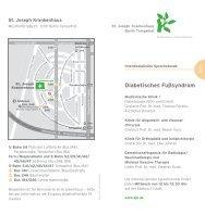 Diabetisches Fußsyndrom - St. Joseph - Krankenhaus Berlin