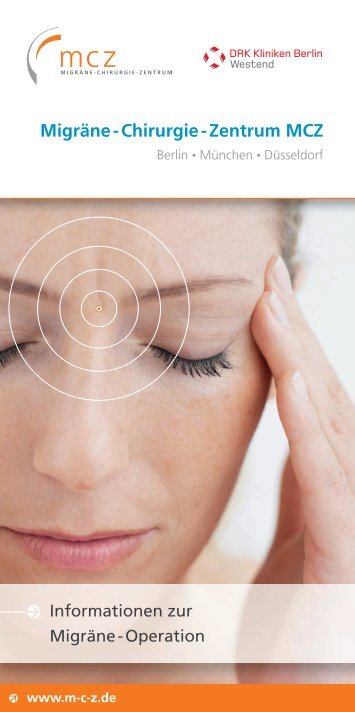 Migräne - Chirurgie - Zentrum MCZ - Migraine Surgery Centre