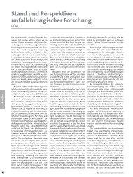 Unfallchirurgische Forschung in Deutschland - Deutsche ...
