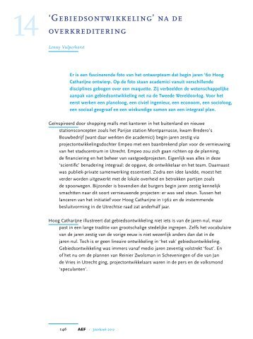 'Gebiedsontwikkeling' na de overkreditering, in: Jaarboek ... - aef.nl