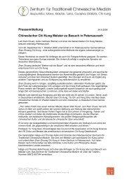 Pressemitteilung Chinesischer Chi Kung Meister zu Besuch in ...