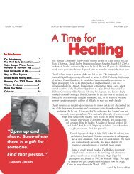 A Time for - Cancer Support Community