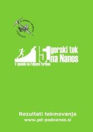 Gorski tek na Nanos 2012 (PDF) - Planinsko društvo Podnanos