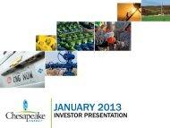 December 2012 Investor Presentation - Chesapeake Energy