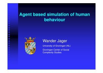Lecture Slides Wander Jager - ICIS