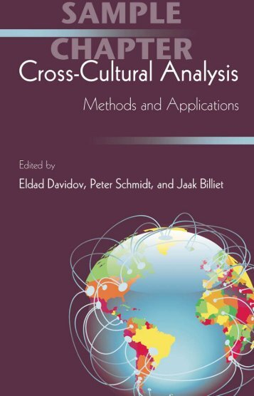Cross-Cultural Analysis: Methods and Applications - Routledge