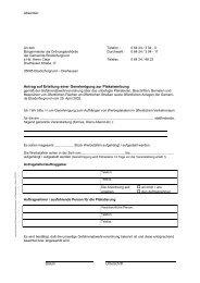 Antrag auf Erteilung einer Genehmigung zur ... - Ebsdorfergrund