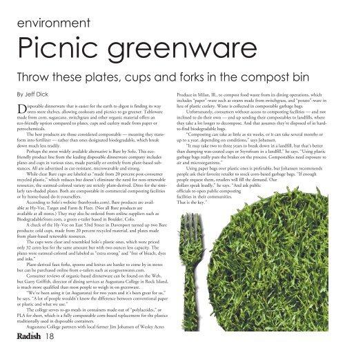 August 2010 Edition - Radish Magazine