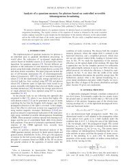 Analysis of a quantum memory for photons based on ... - GAP-Optique