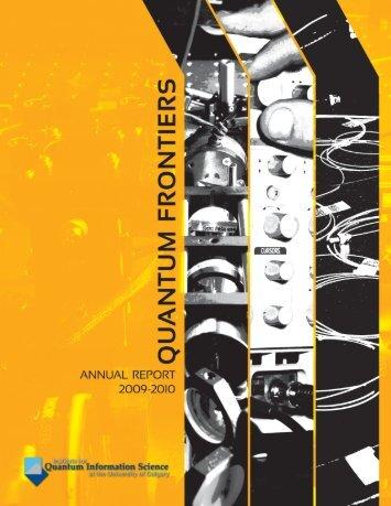 2009-2010 - Institute for Quantum Information Science