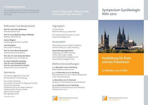 Symposium Gynäkologie Köln 2012 - Endokrinologikum