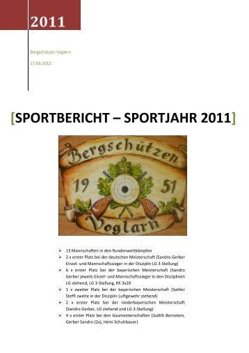 Sportbericht – Sportjahr 2011 - Bergschützen Voglarn