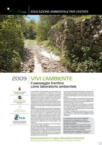 VIVI L'AMBIENTE 2009 - Agenzia provinciale per la protezione dell ...