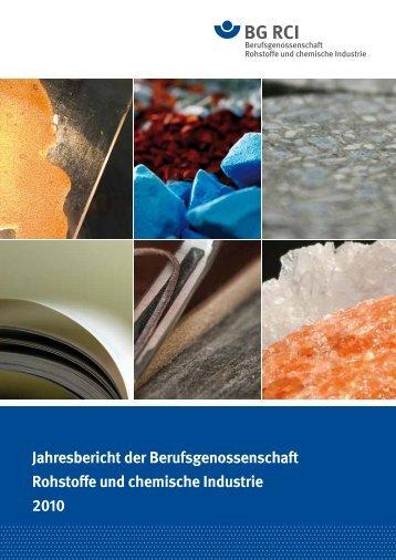 Jahresbericht 2010 - Berufsgenossenschaft Rohstoffe und ...