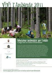Rete trentina di educazione ambientale per lo sviluppo sostenibile