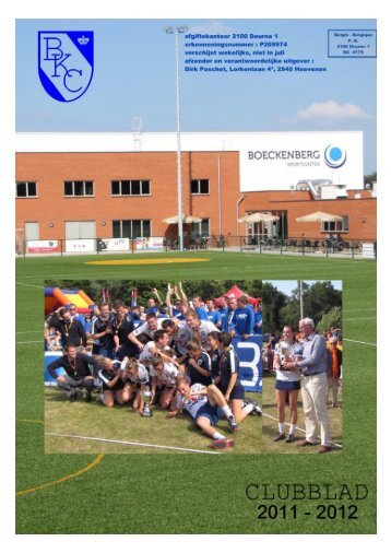 Untitled - Koninklijke Boeckenberg Korfbal Club vzw