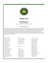 Deans List Fall 2009.pub - Siena College