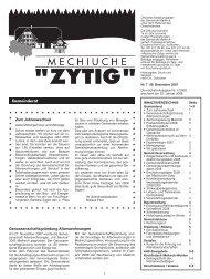 Nr.7 - 28. Dezember 2007 - Meikirch